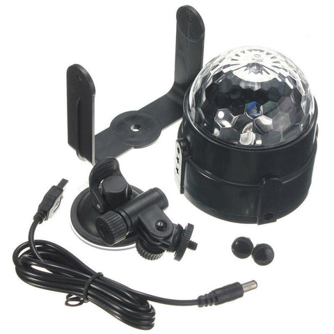 6W USB Voice-Activated Stage Light Disco Ball