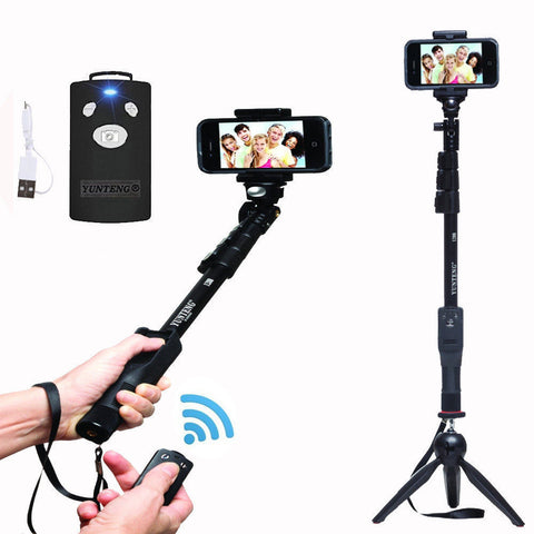 Yt-1288 Selfie Sticks Bluetooth Extendable Handheld