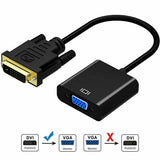 DVI-D 24+1 Pin Male to VGA 15Pin Female Active Cable Adapter Converter 1080P OZ