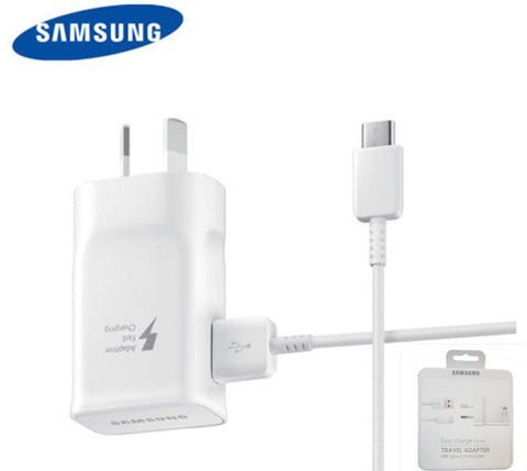15w Samsung Genuine Fast Adaptive Charger w/ Type-C Cable