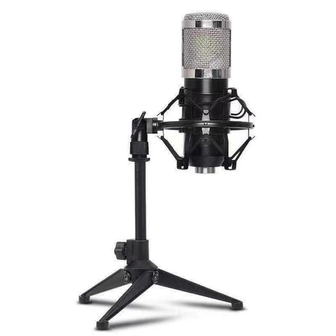 3.5mm XLR Studio Recording Condenser Microphone w/ Shock Mount Table Stand