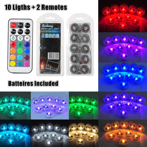 3cm Underwater RGB LED Lights 10 Pack