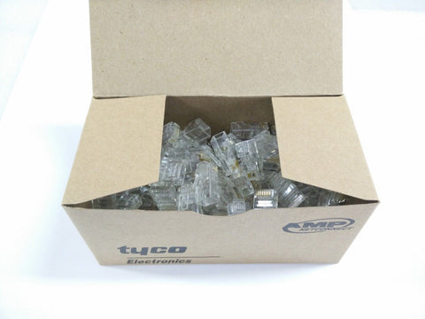 100 x Pcs Cat 5/6 Ethernet RJ45 Crimp Connectors