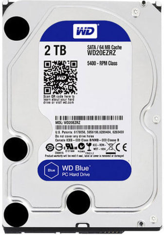 "WD Blue 2TB 5400RPM 3.5"" Hard Drive HDD for PC Pros CCTV"