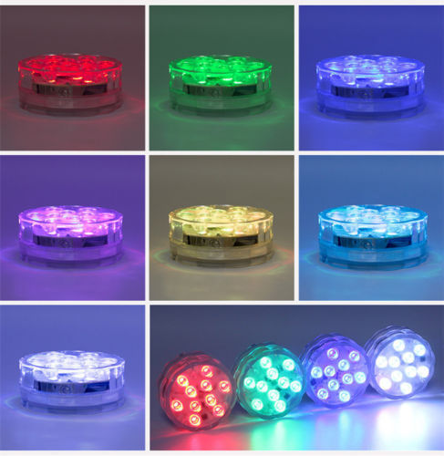 7cm Underwater RGB Puck Light Twin Pack