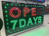 OPEN 7 DAYS High Quality 12V 78x43cm Neon LED Signage for Shops/Businesses!