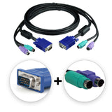 1.5 Metre VGA + PS/2 KVM Cable