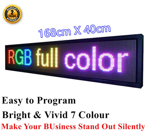 OUTDOOR 7 Colour 168 x 40 cm Programmable Sign