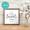 Home Sweet Home Modern Farmhouse Wall Art Decor, Free Printable, Black and White - Printjoy