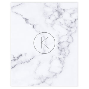 White Marble Monogram Wall Art Decor, Free Printable - Printjoy