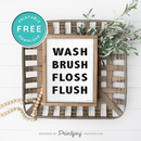 Funny Bathroom Decor • Would Poop Here Again Wall Art • Free Printable • White