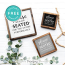 Please Remain Seated For The Entire Performance • Hilarious Bathroom Sign • Rustic Modern Farmhouse • Printable Wall Art Decor • Instant Download