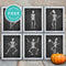 Free Dancing Skeletons Printable Wall Art • Halloween Decor • Free Download - Printjoy
