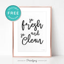 So Fresh And So Clean • Bathroom Decor • Modern Farmhouse • Wall Art • Free Printable Download - Printjoy