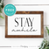 Stay Awhile • Entryway • Living Room • Family Room • Hallway • Dining Room • Wall Art Decor • Free Printable • White
