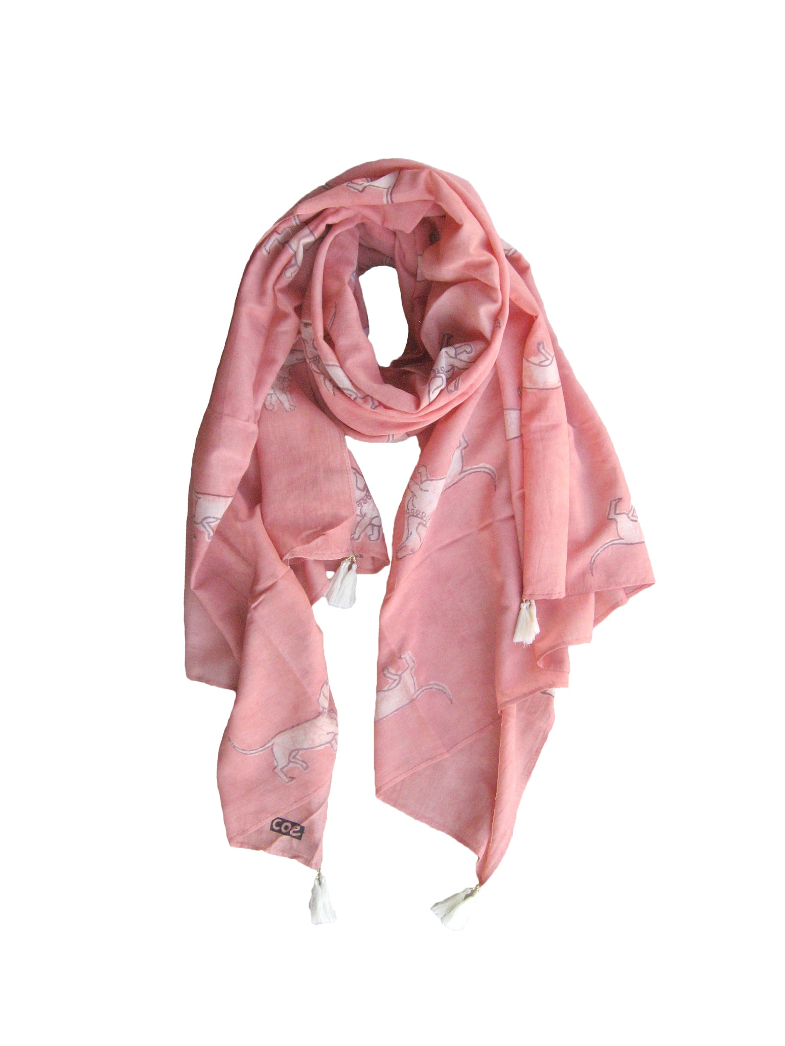 Spaced Out Weiner Dog Scarf in Pink