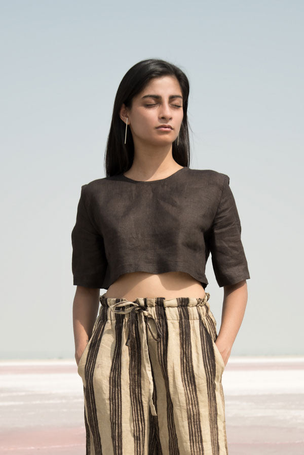 Syahi Linen Crop Top