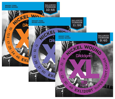 D'addario EXL series electric strings