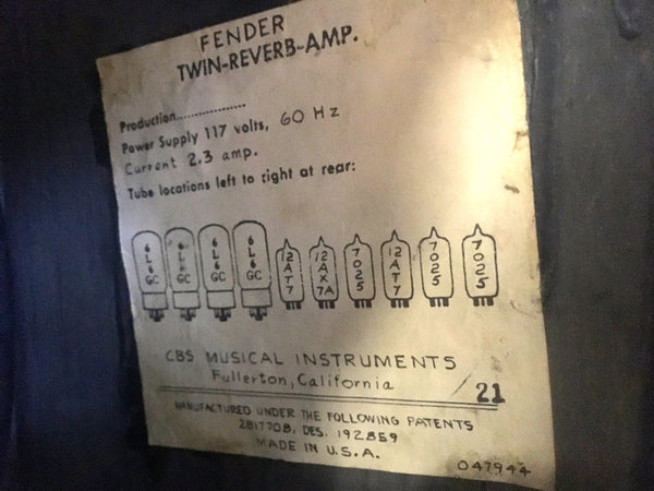 Fender Twin Reverb (1971)