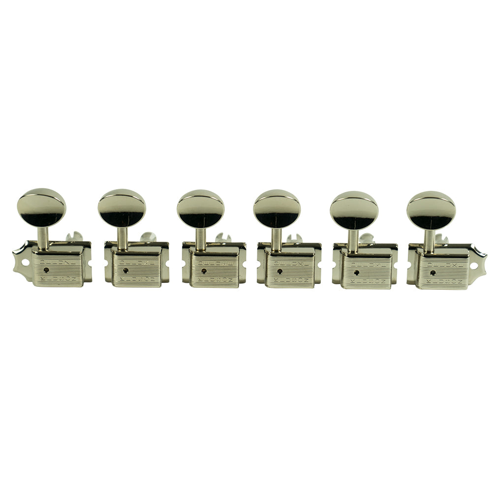 Kluson KD-6B-NMDR 6 In Line Deluxe Series Tuning Machines