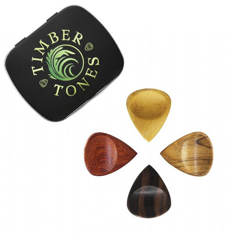 Timber Tones GRY-MT-4 Groovy Tones Mixed Tin of 4 Guitar Picks