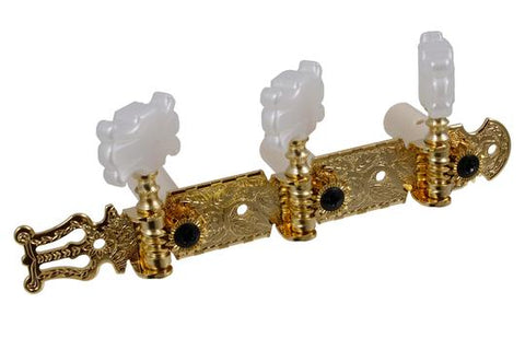 3+3 economy classical tuning heads gold