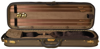 Baker Street deluxe violin case brown