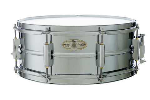 Pearl Sensitone chrome plated steel snare 14 x 5.5
