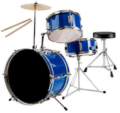 RB 3 piece mini drum kit blue