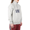 "AIME QUARTER ZIP PULLOVER ""HEATHER GREY"""