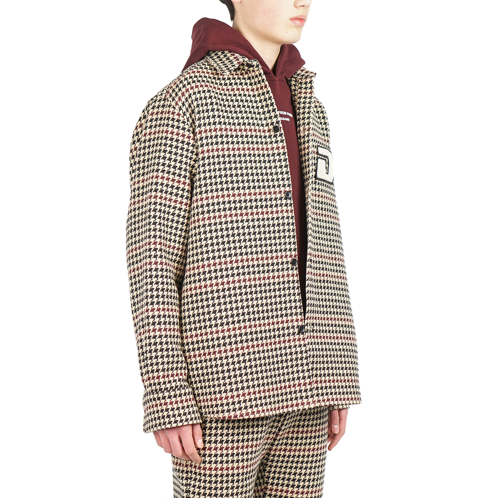 HOUNDSTOOTH PATCHED OVERSHIRT