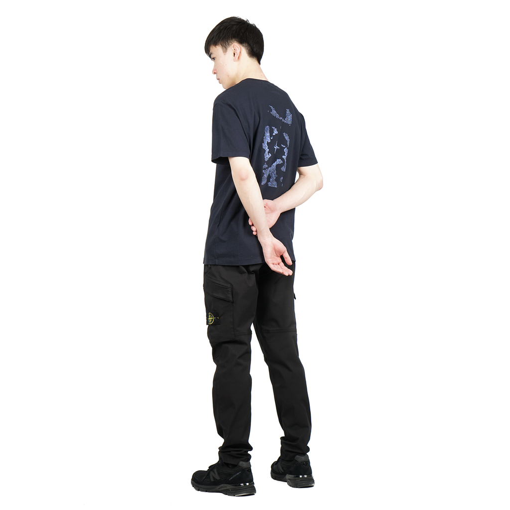 "'GRAPHIC ONE' SHORT SLEEVE COTTON JERSEY TEE ""BLUE"""