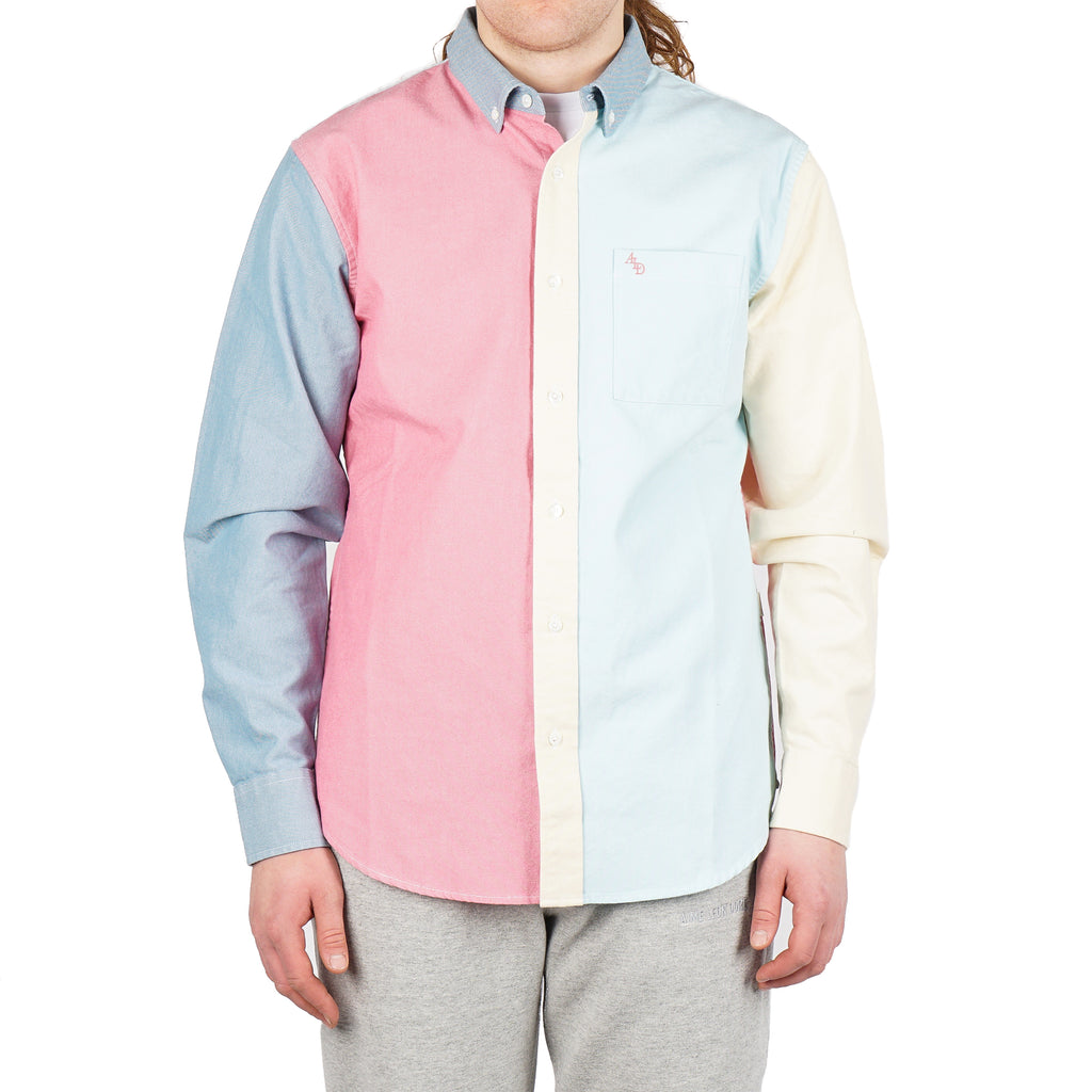 COLOR BLOCKED OXFORD SHIRT
