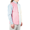 "COLOR BLOCKED OXFORD SHIRT ""CARMINE ROSE COMBO"""