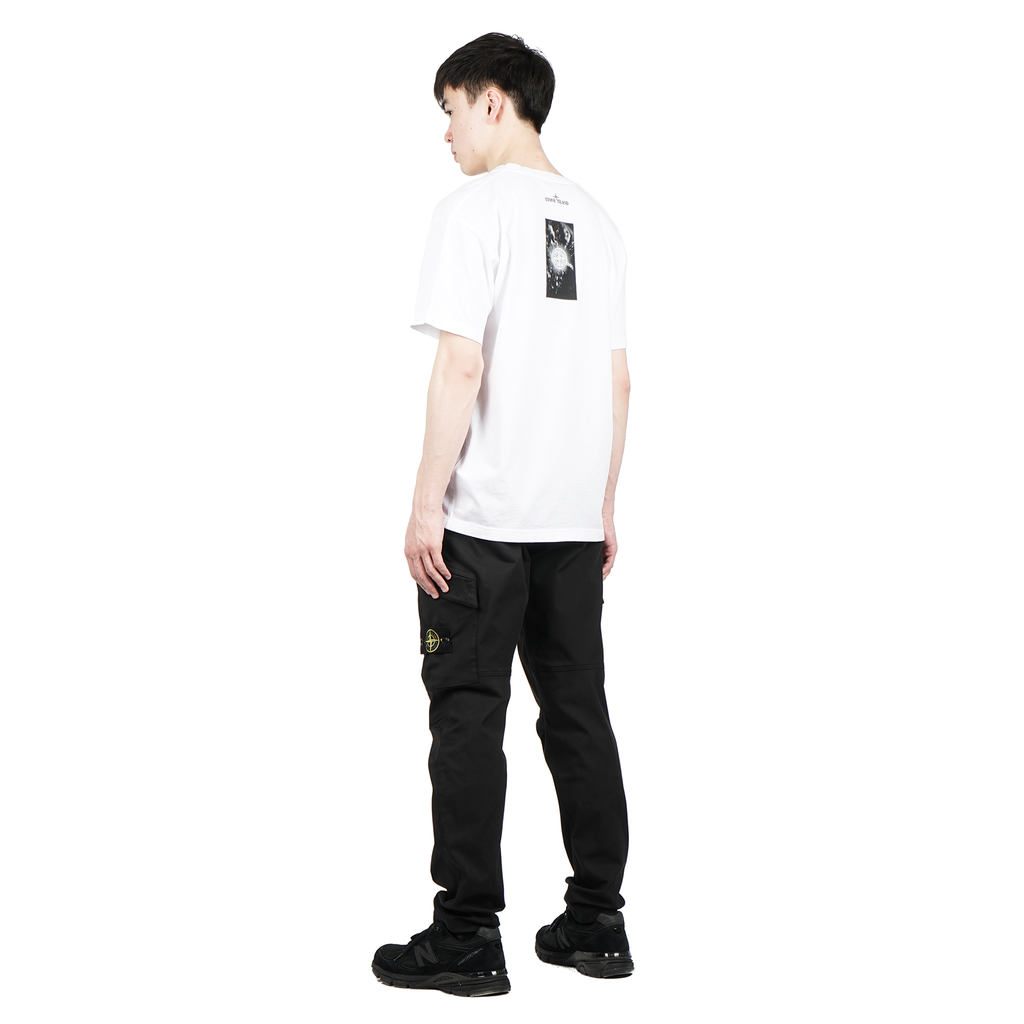 'GRAPHIC THREE' SHORT SLEEVE COTTON JERSEY TEE