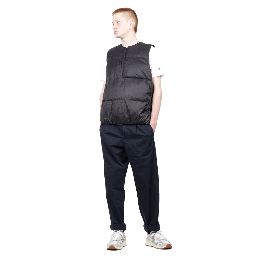 "CREWNECK DOWN VEST ""BLACK"""