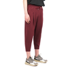 "CROPPED CARROT PANTS ""BURGUNDY"""