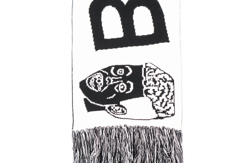 RABBIT FUR SOCCER SCARF