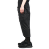 "CROPPED CARGO TROUSERS (BRUSHED COTTON SATIN) ""BLACK"""