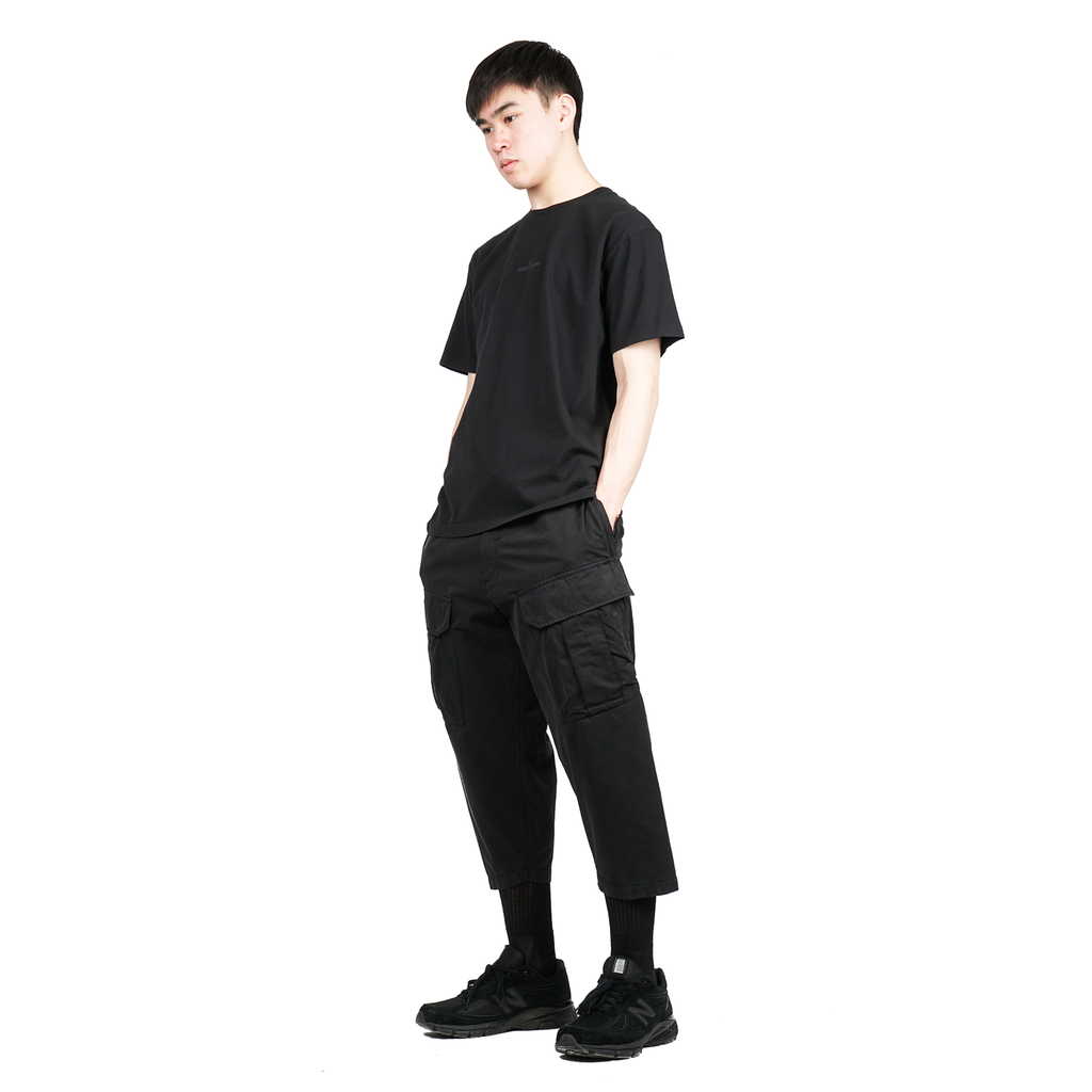 CROPPED CARGO TROUSERS (BRUSHED COTTON SATIN)