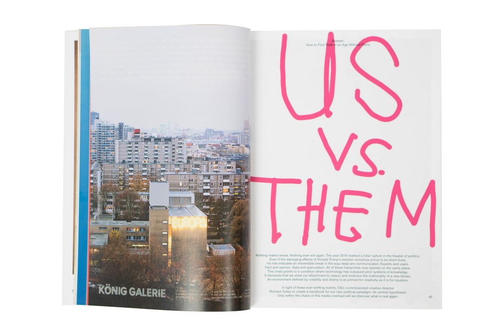 "032c ISSUE #32 SUMMER 2017: ""US vs. THEM"""