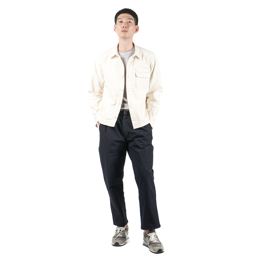 ONE TUCK EASY TAPERED TROUSERS