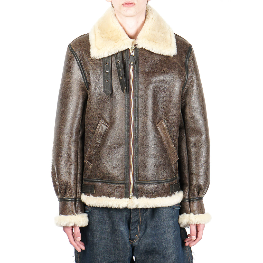 CLASSIC B-3 SHEEP SKIN LEATHER BOMBER JACKET