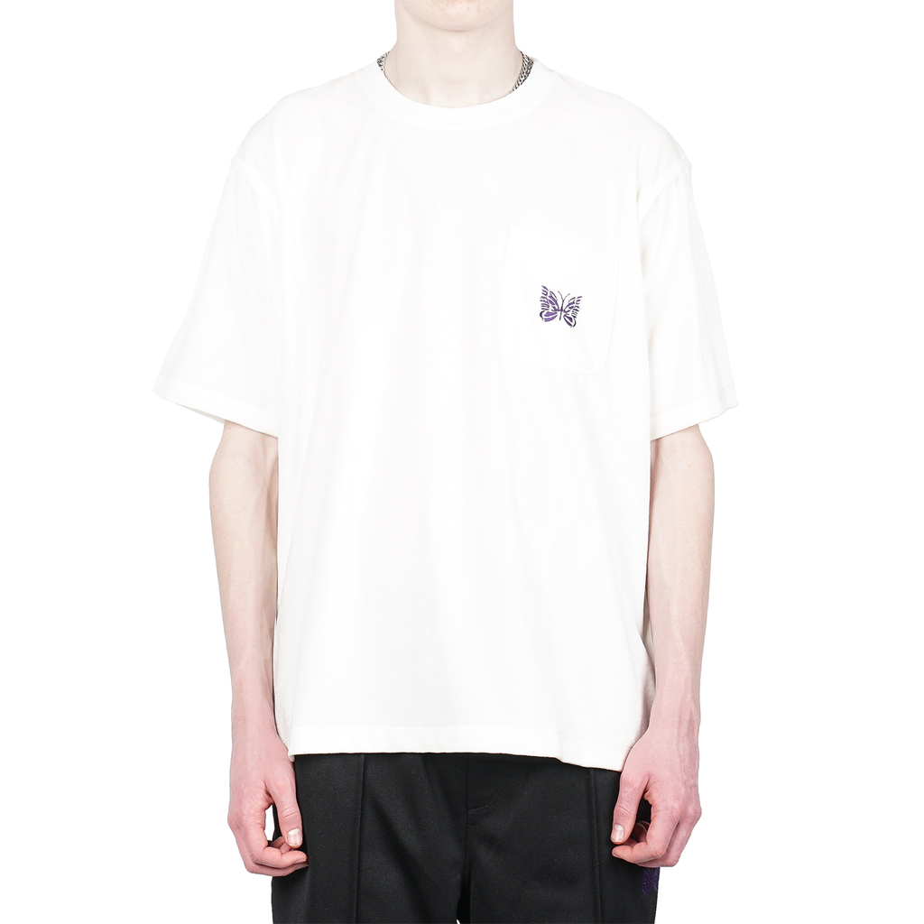 S/S PAPILLON EMBROIDERY POCKET TEE