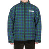 "DECADES PLAID PUFFER JACKET ""BLACK/GREEN/BLUE"""