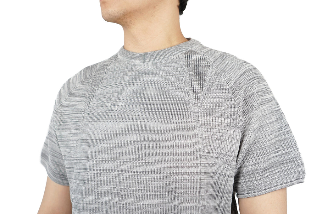 "WG STRETCH KNIT PULLOVER ""M.GREY"""
