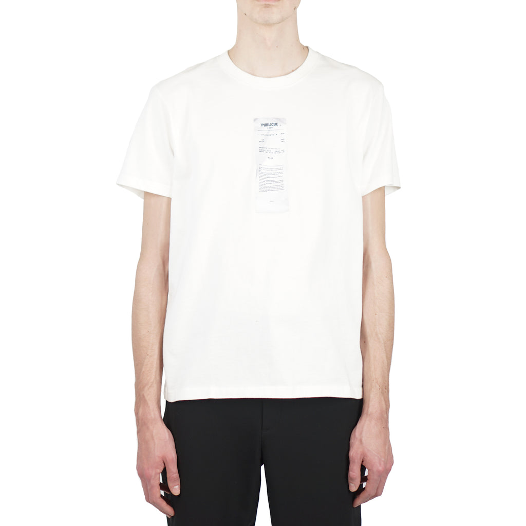 "PURLICUE RECEIPT SS TEE ""WHITE"""