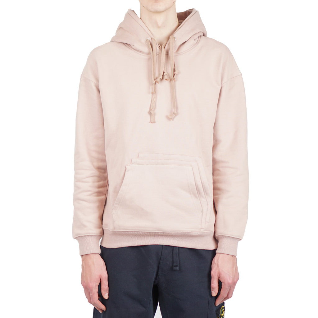 "TRIPLE HOOD & POCKET PULLOVER SWEATER ""DUST PINK"""