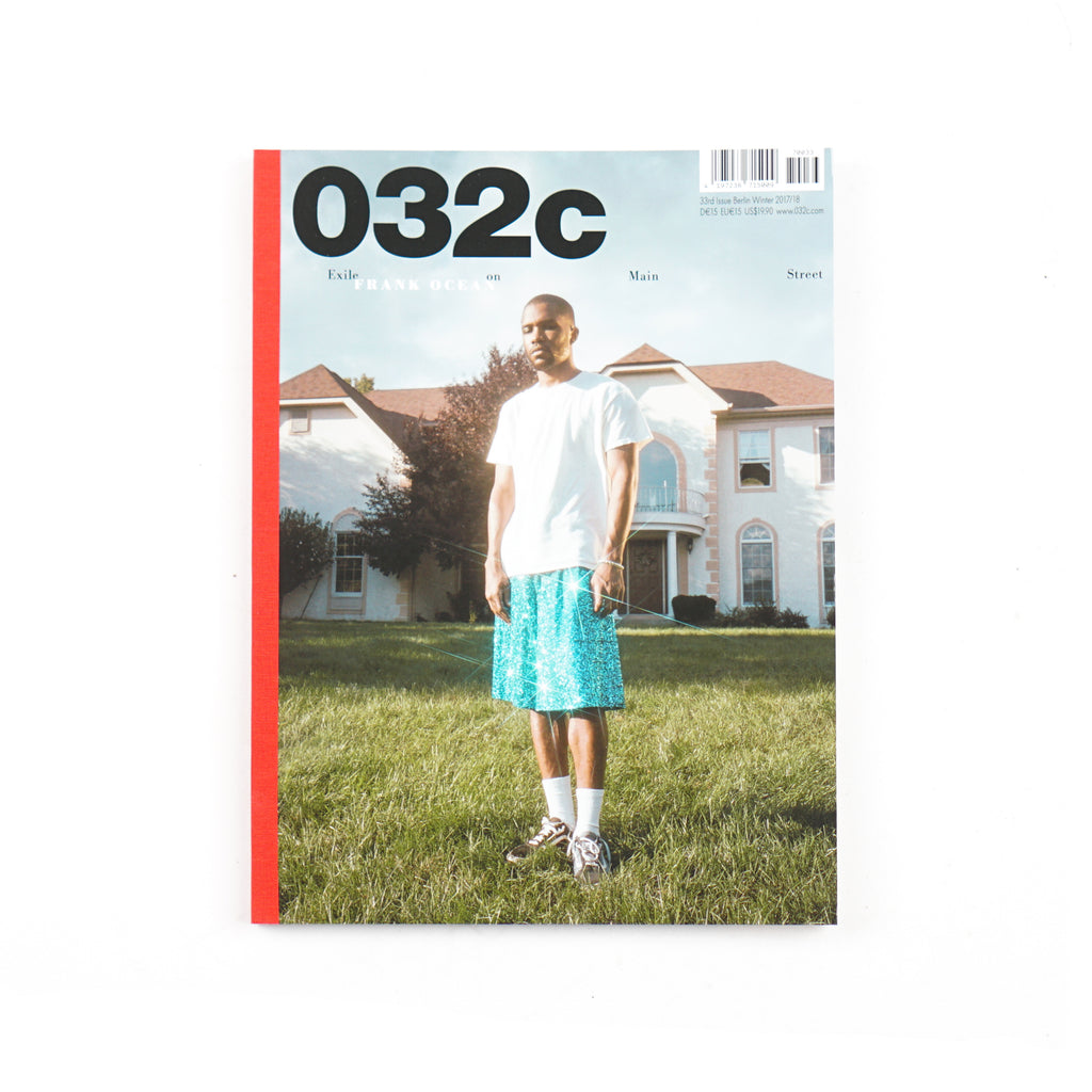 "032c ISSUE #33 WINTER 2017/18: ""BERLIN KIDZ"" - FRANK OCEAN COVER"
