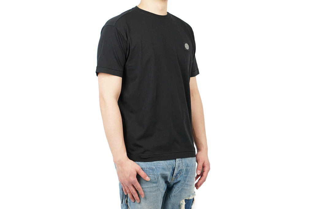 "SHORT SLEEVE T-SHIRT IN COTTON JERSEY ""BLACK"""